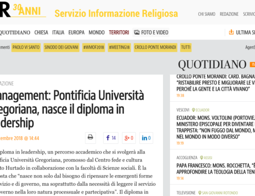 Management: Pontificia Università Gregoriana, nasce il diploma in leadership