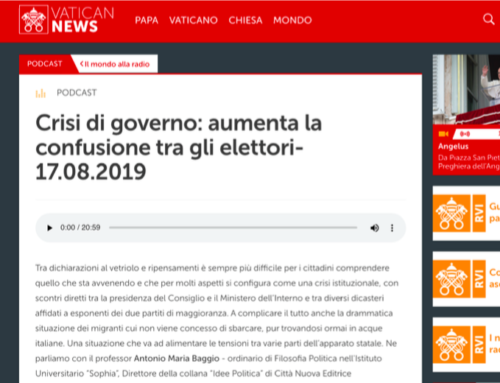 Crisi di governo: aumenta la confusione fra gli elettori, Radio Vaticana.